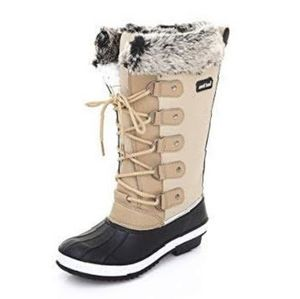 NWT Winter Lace Up Fur Duck Boots